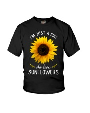 Just A Girl Who Loves Sunflowers Youth T-Shirt thumbnail