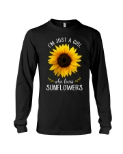 Just A Girl Who Loves Sunflowers Long Sleeve Tee thumbnail
