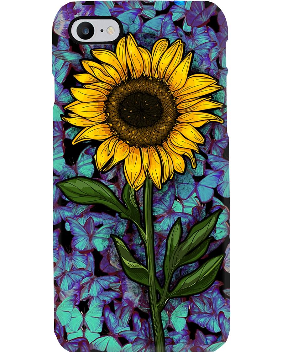 Sunflower Butterflies Phone Case