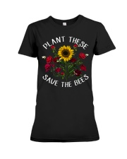 Plant These Save The Bees Premium Fit Ladies Tee thumbnail