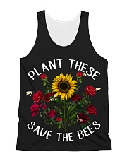 Plant These Save The Bees All-over Unisex Tank thumbnail