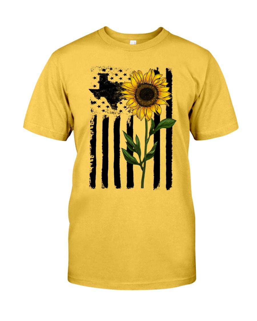 American Flag Sunflower Texas Classic T-Shirt