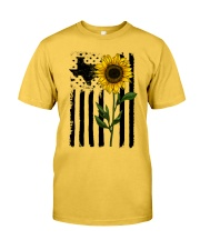 American Flag Sunflower Texas Classic T-Shirt front