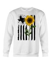 American Flag Sunflower Texas Crewneck Sweatshirt thumbnail