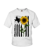 American Flag Sunflower Texas Youth T-Shirt thumbnail