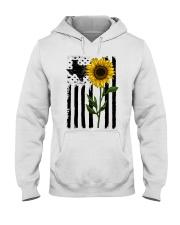 American Flag Sunflower Texas Hooded Sweatshirt thumbnail