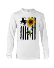 American Flag Sunflower Texas Long Sleeve Tee thumbnail