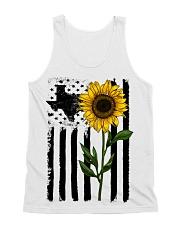 American Flag Sunflower Texas All-over Unisex Tank thumbnail