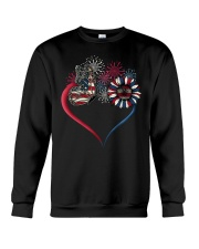 Butterfly Love Sunflower American Flag Crewneck Sweatshirt thumbnail