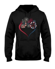 Butterfly Love Sunflower American Flag Hooded Sweatshirt thumbnail