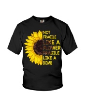 Not Fragile Like A Flower Youth T-Shirt thumbnail