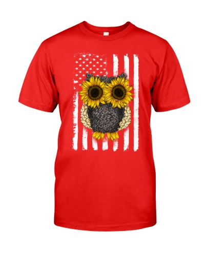 American Flag Sunflower Owl