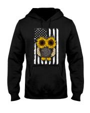 American Flag Sunflower Owl Hooded Sweatshirt thumbnail