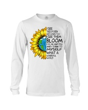 What A Wonderful World Sunflower Earth Long Sleeve Tee thumbnail