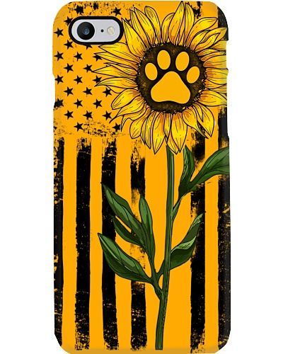 American Flag Sunflower Paw
