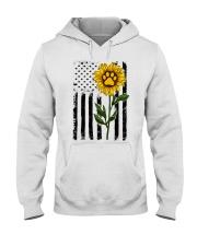American Flag Sunflower Paw Hooded Sweatshirt thumbnail