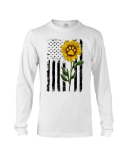 American Flag Sunflower Paw Long Sleeve Tee thumbnail