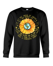 I See Trees Of Green Red Roses Too Sunflower Crewneck Sweatshirt thumbnail