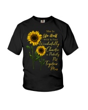She Is Life Itself Sunflower Youth T-Shirt thumbnail