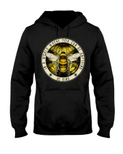 Be Kind Bee Sunflower Vintage Hooded Sweatshirt thumbnail