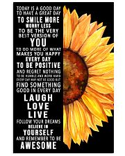 Today Is A Good Day To Have A Great Day Sunflower 11x17 Poster front