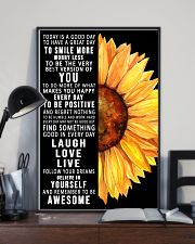 Today Is A Good Day To Have A Great Day Sunflower 11x17 Poster lifestyle-poster-2