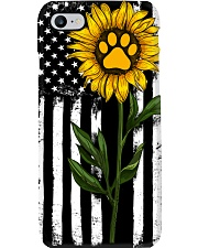 American Flag Sunflower Paw Phone Case thumbnail