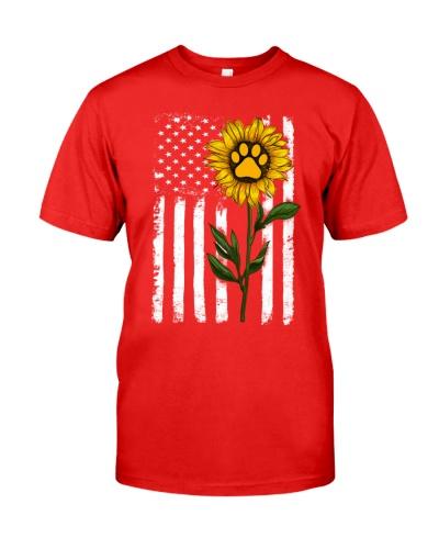 American Flag Sunflower Paw