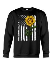 American Flag Sunflower Paw Crewneck Sweatshirt thumbnail