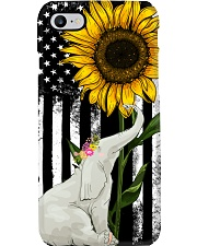 American Flag Sunflower Elephant Phone Case tile