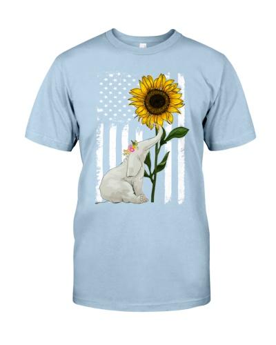 American Flag Sunflower Elephant