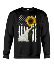American Flag Sunflower Elephant Crewneck Sweatshirt thumbnail