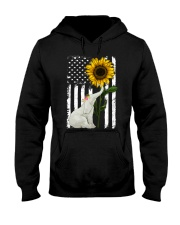 American Flag Sunflower Elephant Hooded Sweatshirt thumbnail