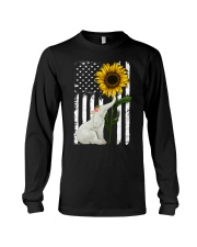 American Flag Sunflower Elephant Long Sleeve Tee tile