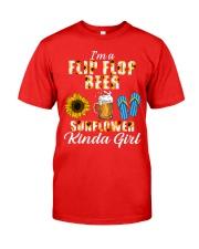 I'm A Flip Flop Beer Sunflower Kinda Girl Classic T-Shirt front