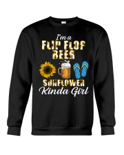 I'm A Flip Flop Beer Sunflower Kinda Girl Crewneck Sweatshirt thumbnail