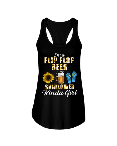 I'm A Flip Flop Beer Sunflower Kinda Girl