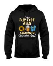 I'm A Flip Flop Beer Sunflower Kinda Girl Hooded Sweatshirt thumbnail