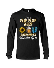 I'm A Flip Flop Beer Sunflower Kinda Girl Long Sleeve Tee thumbnail