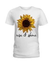 Rise And Shine Sunflower Ladies T-Shirt thumbnail