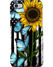 American Flag Sunflower Butterfly Phone Case thumbnail