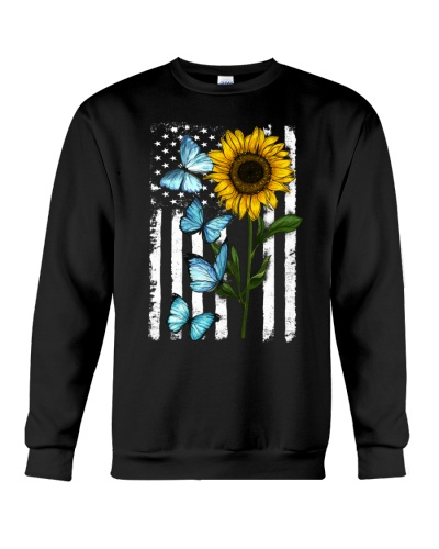 American Flag Sunflower Butterfly