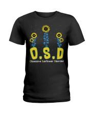 Obsessive Sunflower Disorder Ladies T-Shirt thumbnail