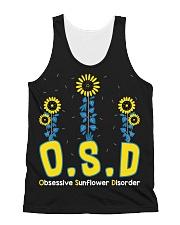 Obsessive Sunflower Disorder All-over Unisex Tank thumbnail