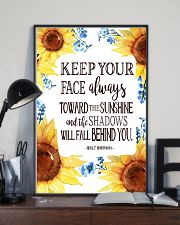 Keep Your Face Alwasy Toward The Sunshine 11x17 Poster lifestyle-poster-2