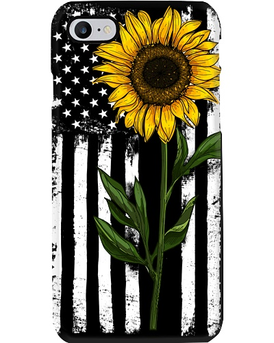 American Flag Sunflower