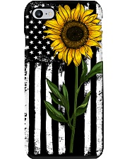American Flag Sunflower Phone Case thumbnail