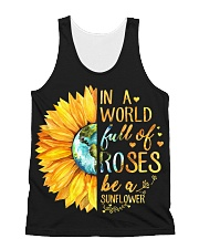 In A World Full Of Roses Be A Sunflower All-over Unisex Tank thumbnail