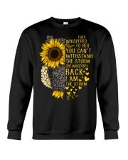I Am The Storm Sunflower Owl Crewneck Sweatshirt thumbnail