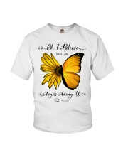 Oh I Believe There Are Angels Among Us Sunflower Youth T-Shirt thumbnail